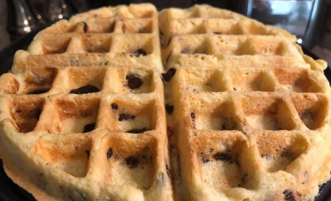 Chocolate Chip Almond Flour Waffles