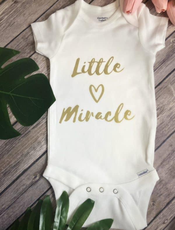 Little miracle onsie
